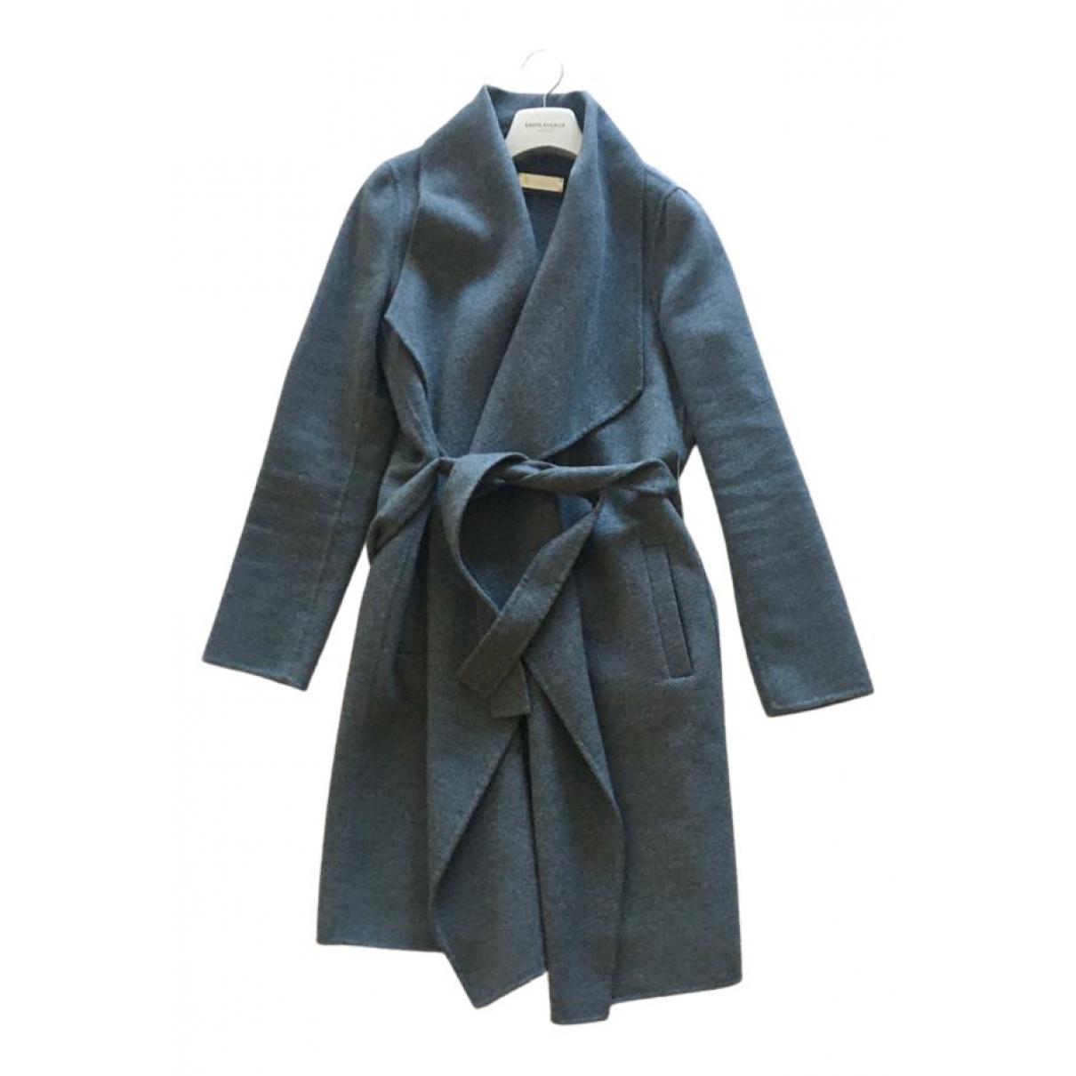 Massimo Dutti \N Maentel in  Grau Wolle
