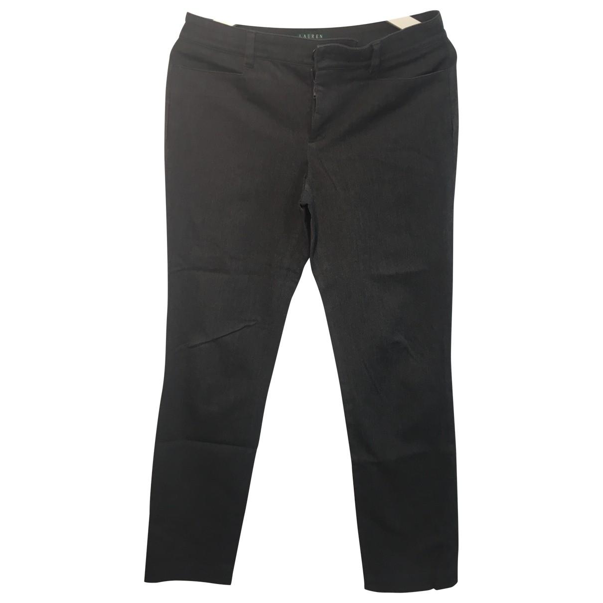 Lauren Ralph Lauren \N Grey Cotton Trousers for Women 4 0-5