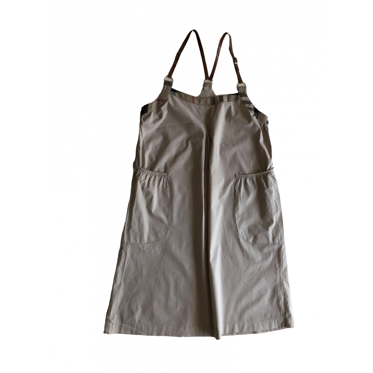 Burberry - Robe   pour femme en coton - beige