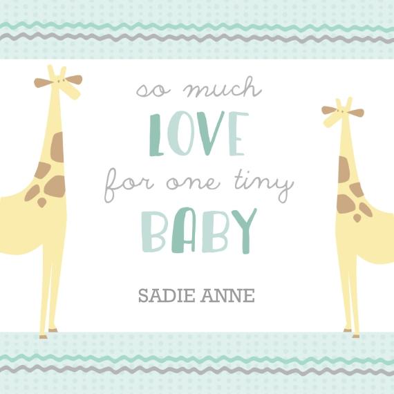 Non Photo Deluxe Tote Bag, Gift -Giraffe Love