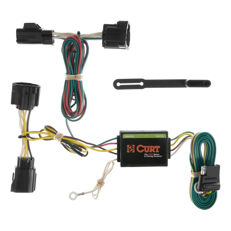 Curt 55414 Custom Wiring Harness (4-Way Flat Output)
