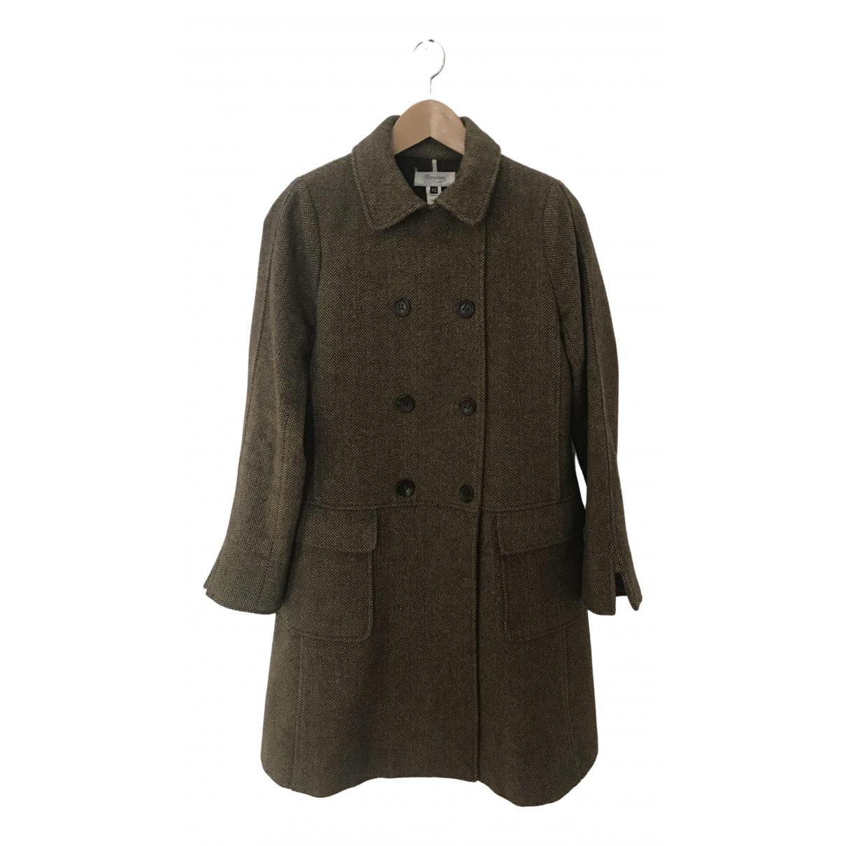 Bonpoint - Manteau   pour femme en laine - marron