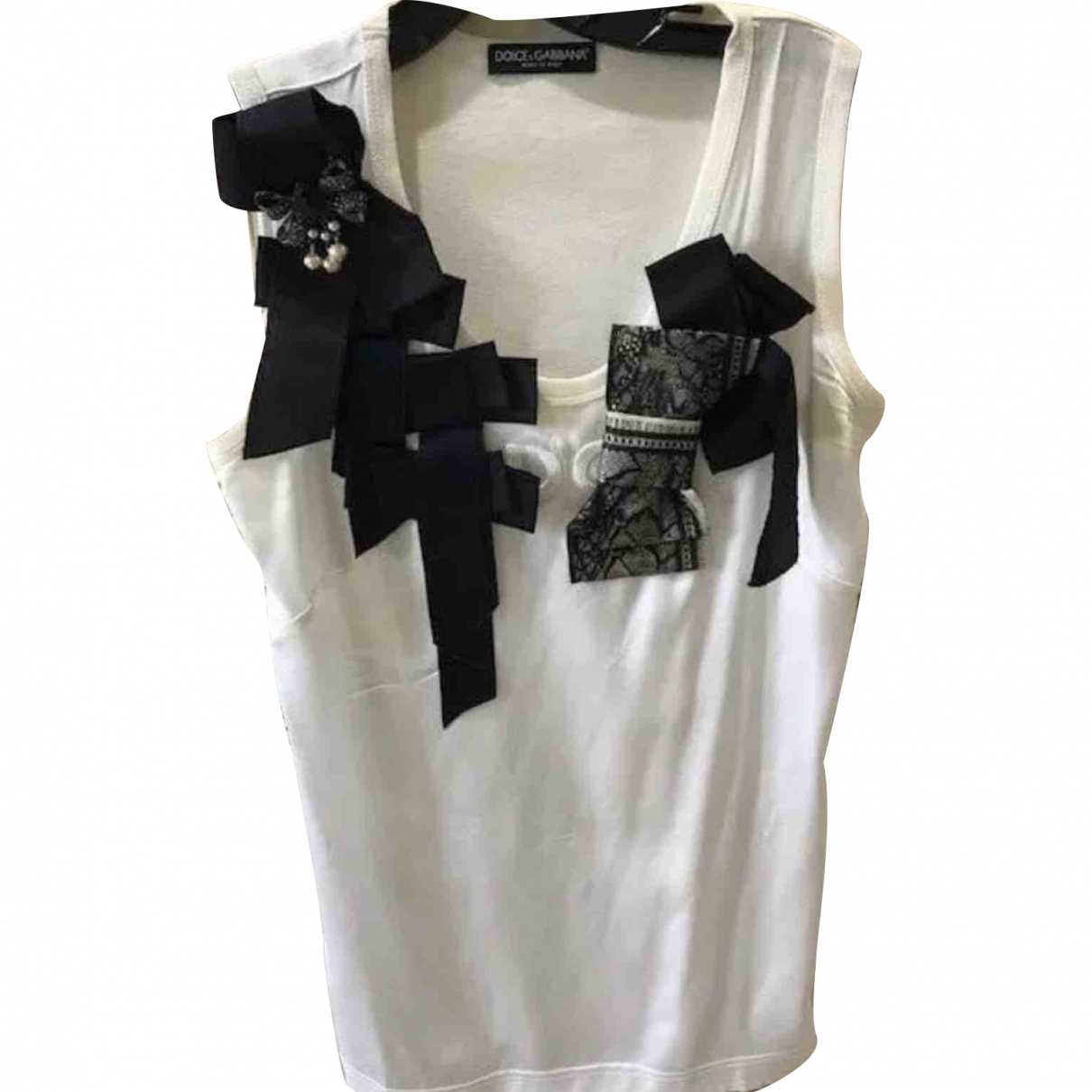 Dolce & Gabbana \N Top in  Weiss Seide