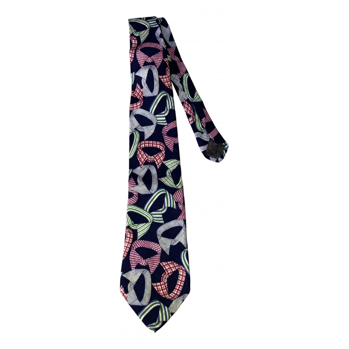 Karl Lagerfeld - Cravates   pour homme en soie - marine