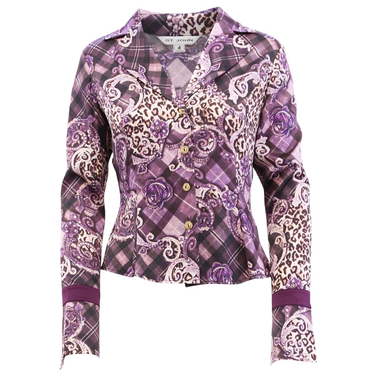 St John \N Purple Silk  top for Women 4 US