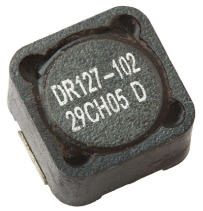 Eaton Bussmann Series , DR73/74/125/127, 0127 Shielded Wire-wound SMD Inductor with a Ferrite Core, 2.2 μH ±20% (5)