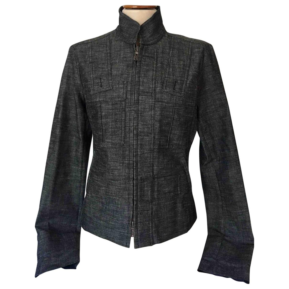 Yves Saint Laurent \N Grey Cotton jacket for Women 42 FR