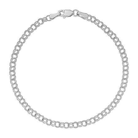 14K White Gold Charm Bracelet, One Size , No Color Family