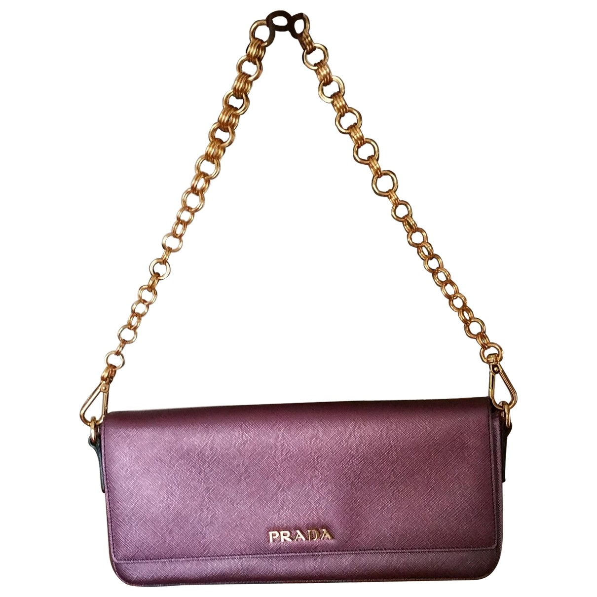 Prada \N Purple Leather Clutch bag for Women \N