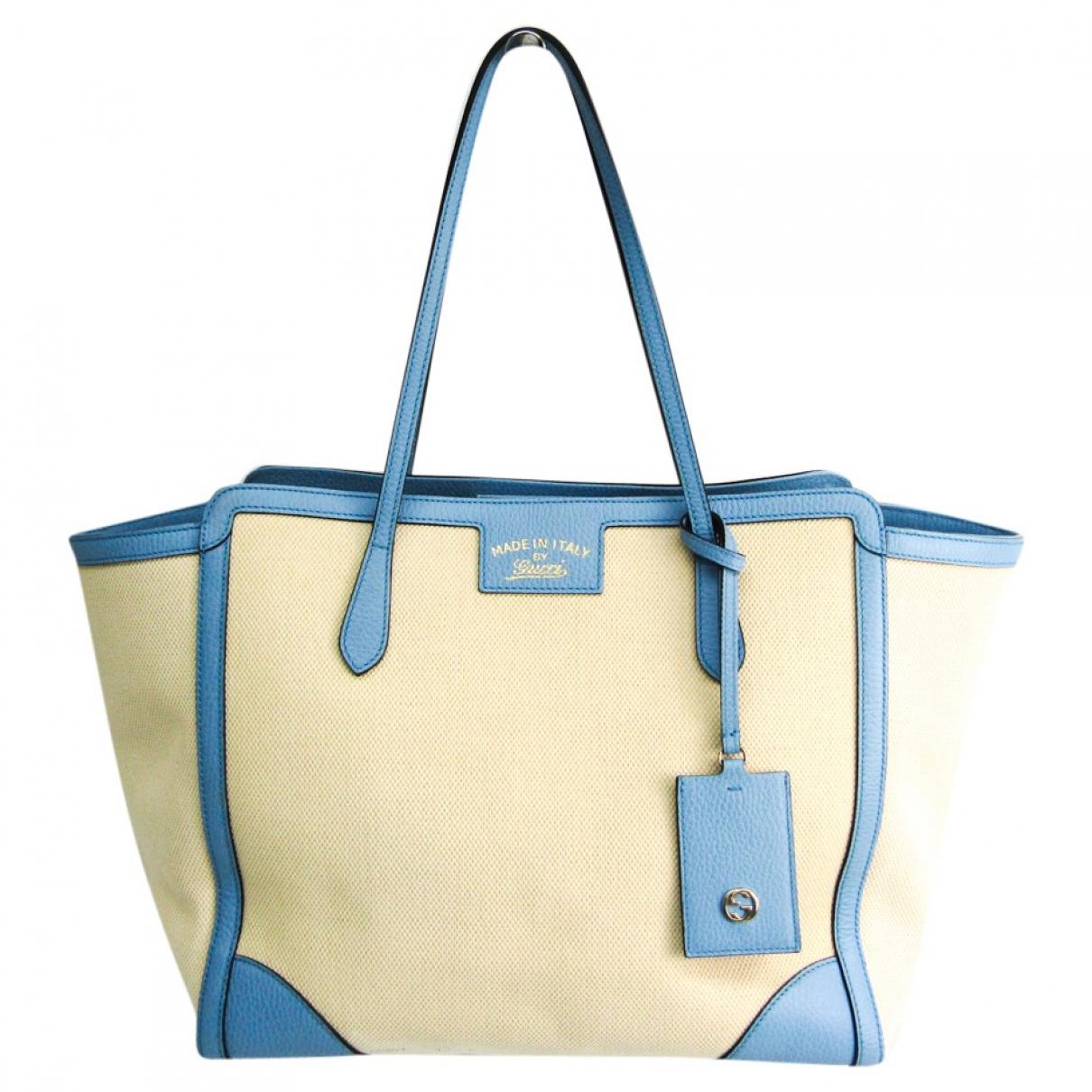 Gucci \N Handtasche in  Blau Leder