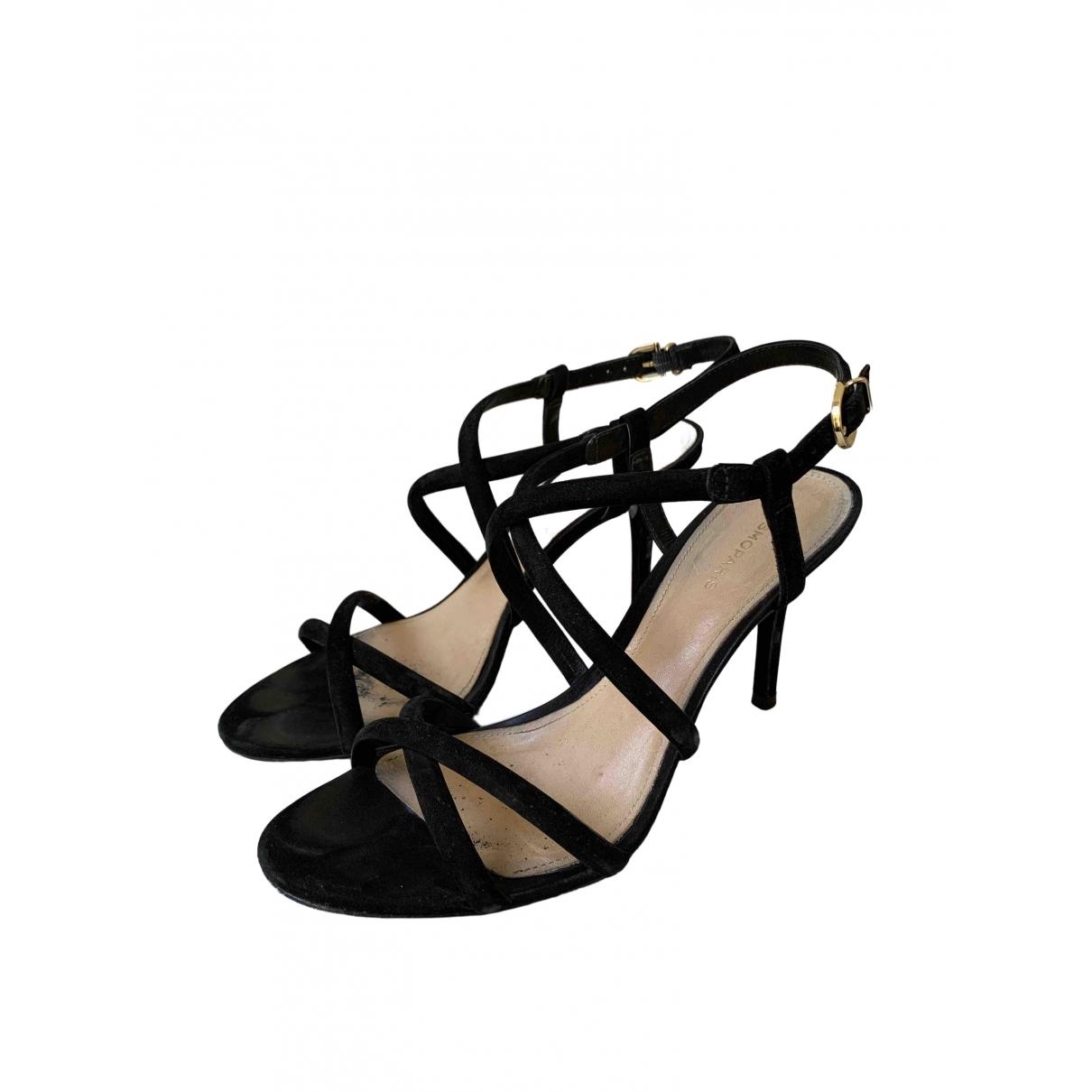 - Sandales   pour femme en suede - noir