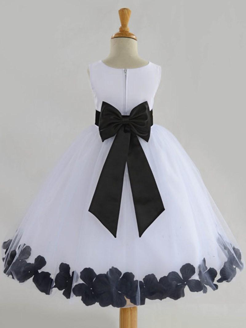Ericdress Round Neck Bowknot Ball Gown Flower Girl Dress