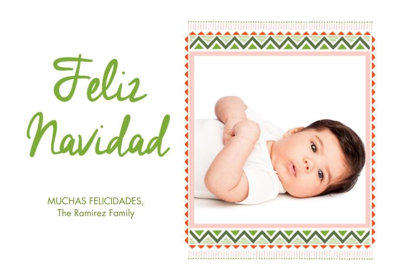 Tarjetas de Navidad 5x7 Cards, Premium Cardstock 120lb with Rounded Corners, Card & Stationery -Regalo De Navidad