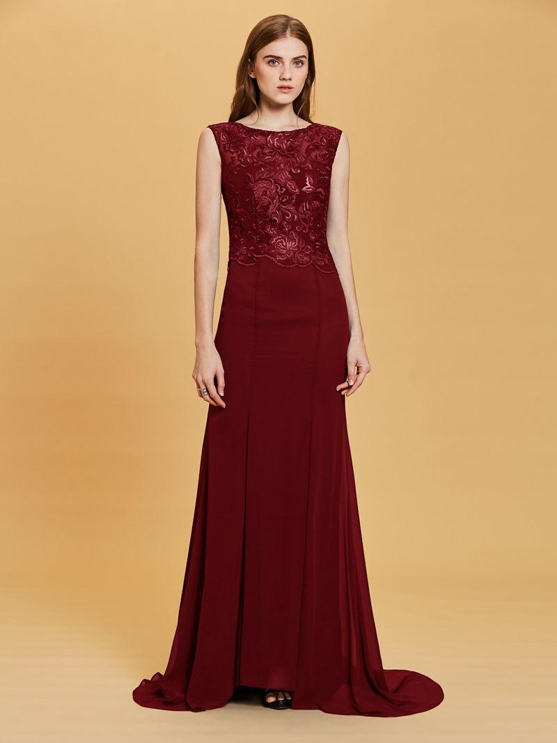 Ericdress Lace Appliques Split-Front A Line Evening Dress