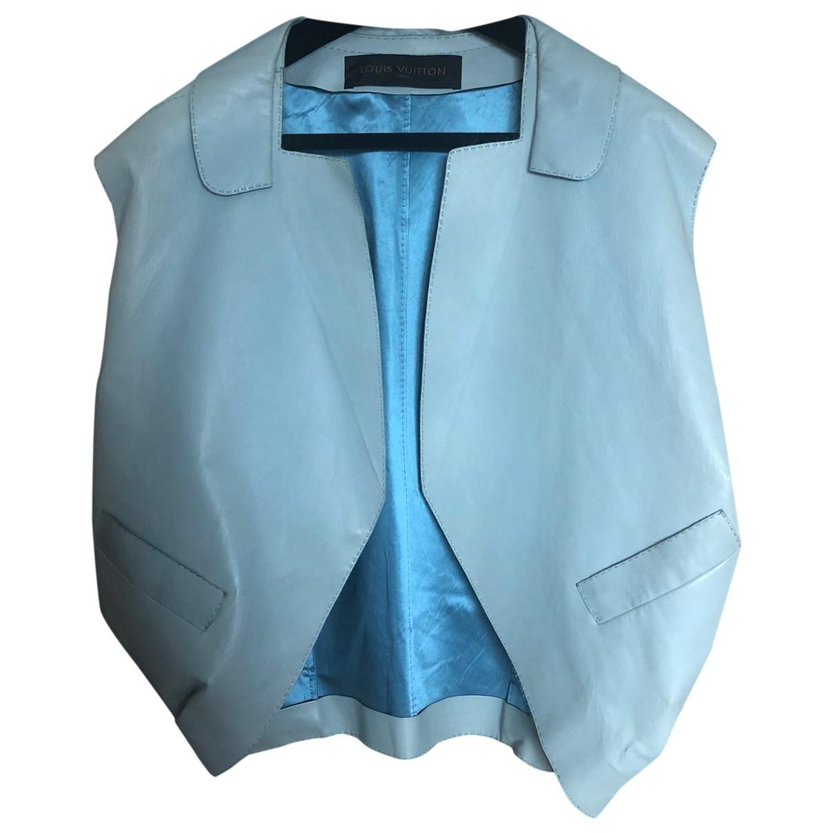 Louis Vuitton - Veste   pour femme en cuir - bleu