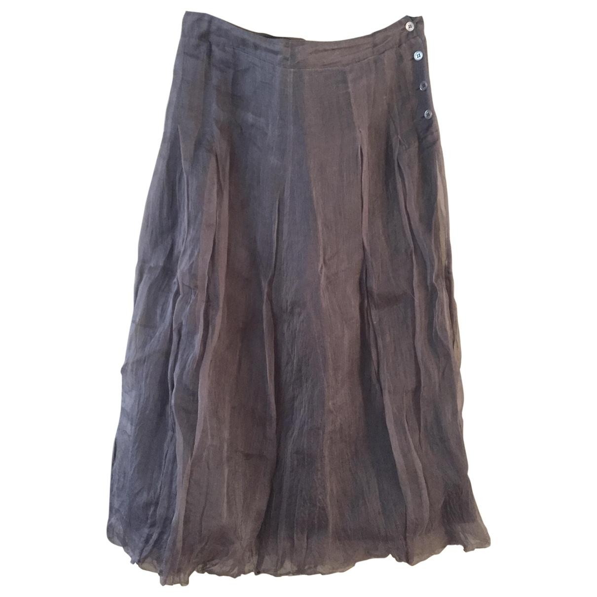 Jigsaw \N Brown Silk skirt for Women 16 UK