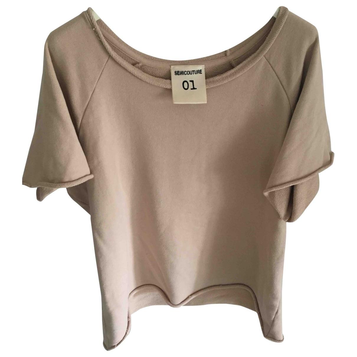 Semicouture - Top   pour femme en coton - beige