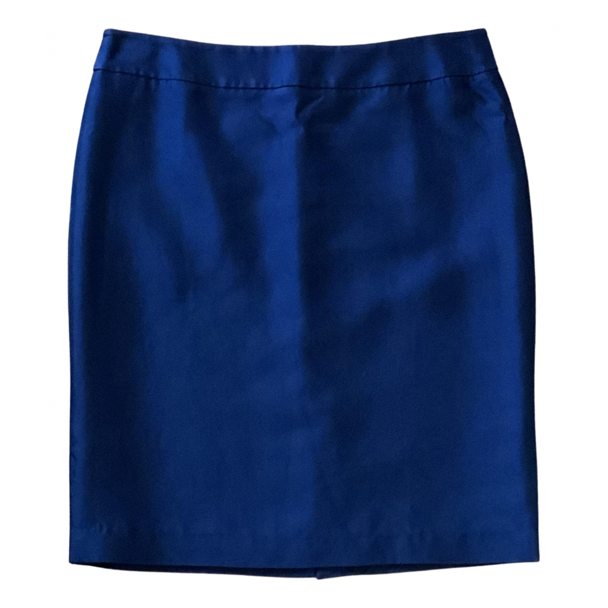 Armani Collezioni \N Navy Silk skirt for Women 46 IT