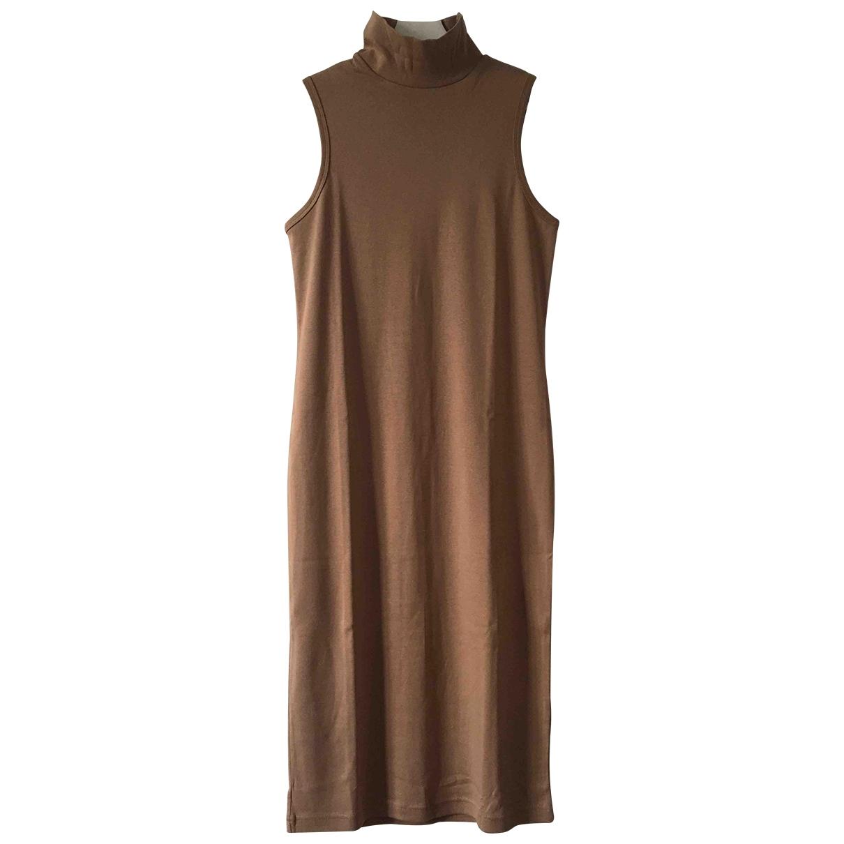 Non Signé / Unsigned \N Beige Cotton dress for Women S International
