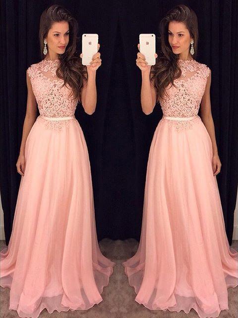 Ericdress Jewel Appliques Floor-Length A-Line Prom Dress