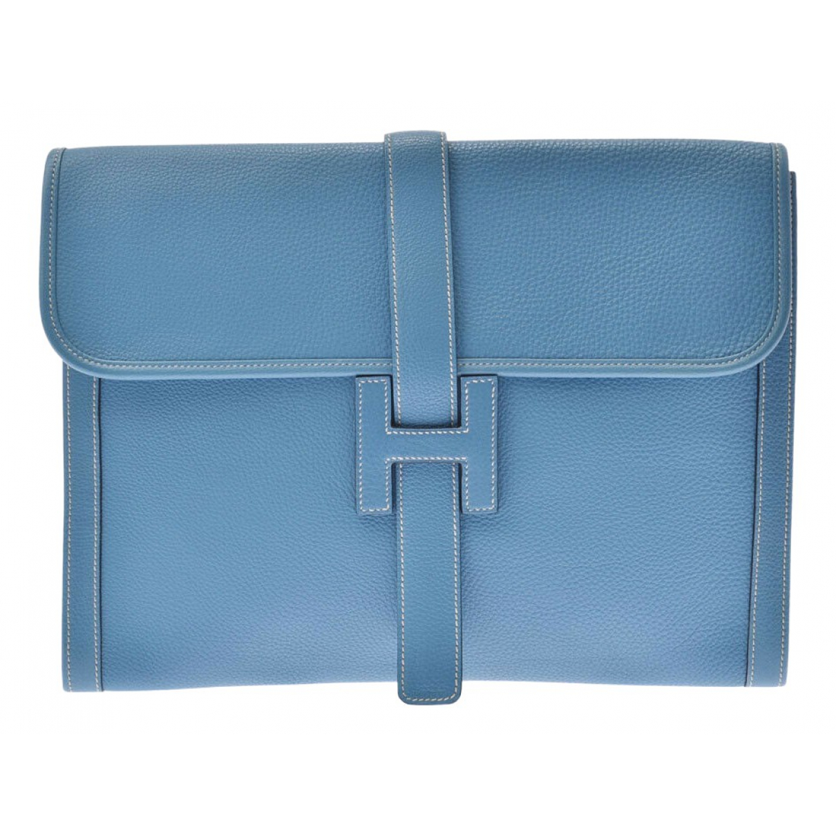 Hermès Jige Blue Leather Clutch bag for Women N