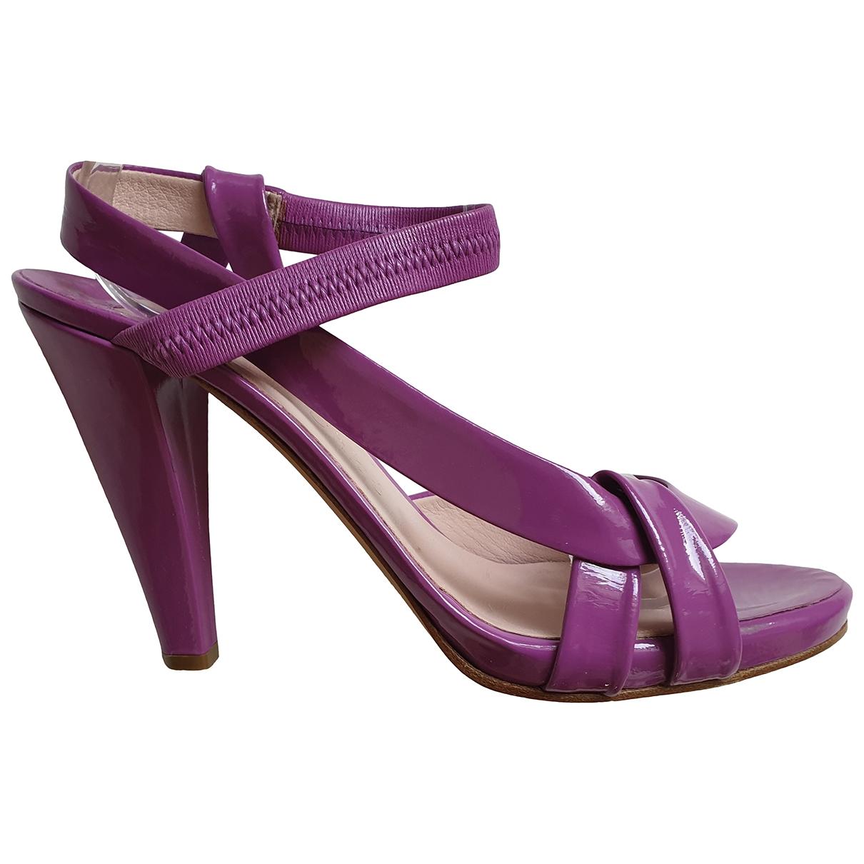 Chloe - Sandales   pour femme en cuir verni - violet