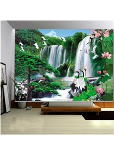Fairyland Waterfall and Cranes 3D Printed Roller Shades