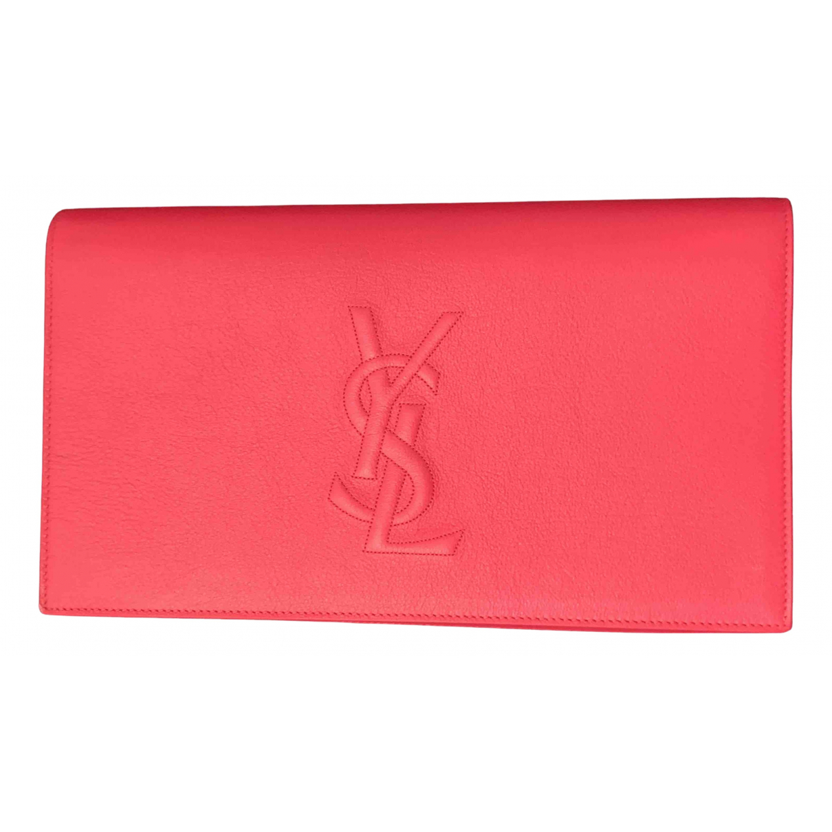 Yves Saint Laurent Belle de Jour Pink Leather Clutch bag for Women N