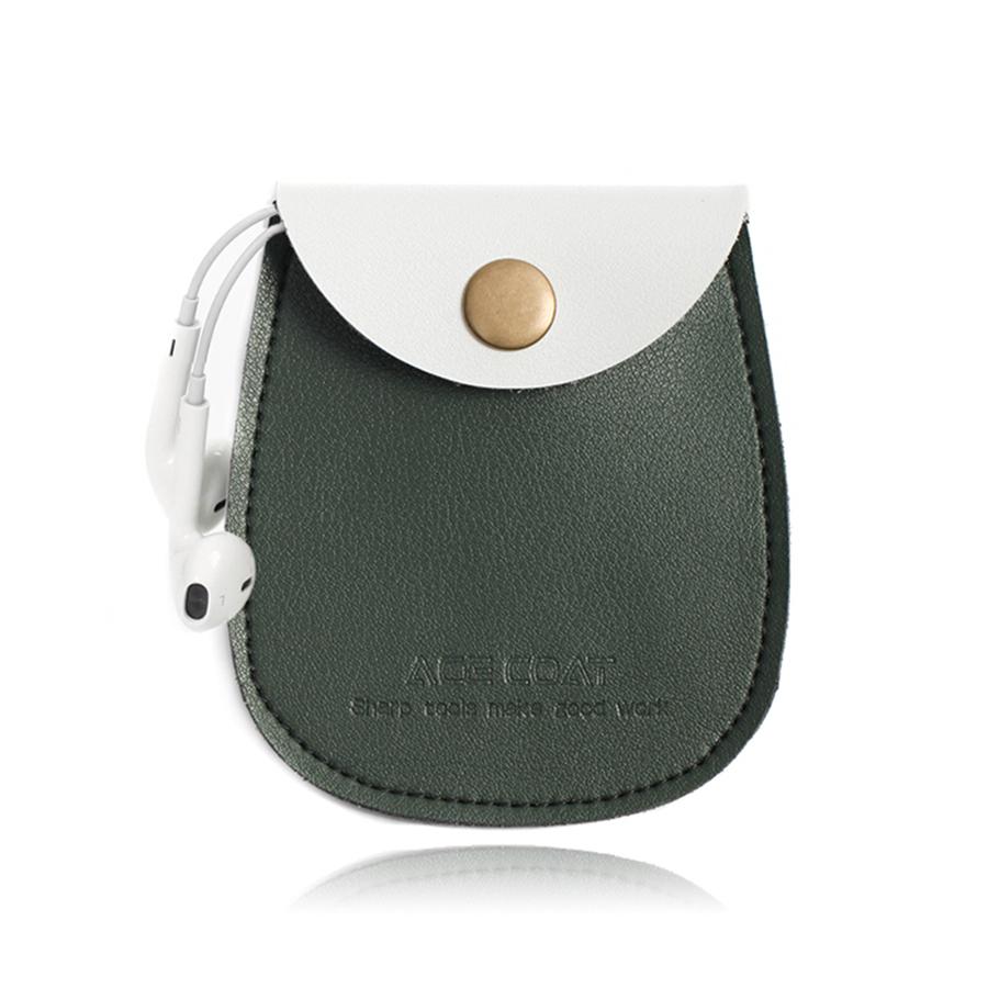 Small Digital Accessories Imitation Leather Portable Handbag