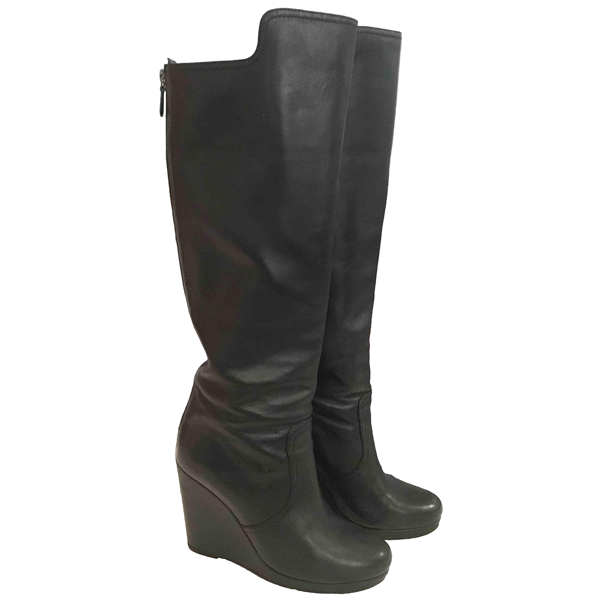 Prada \N Black Leather Boots for Women 37 IT