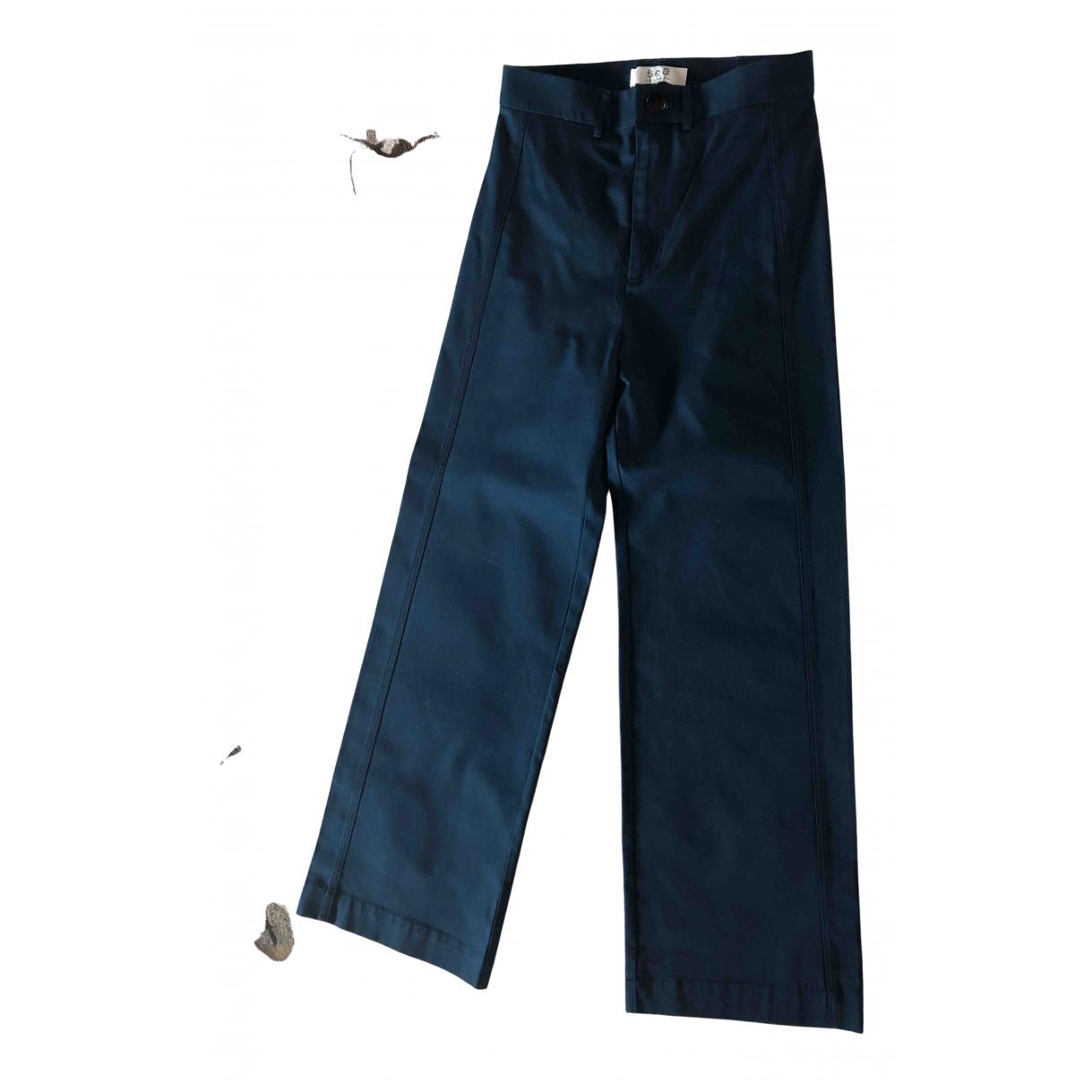 Sea New York - Pantalon   pour femme en coton - bleu