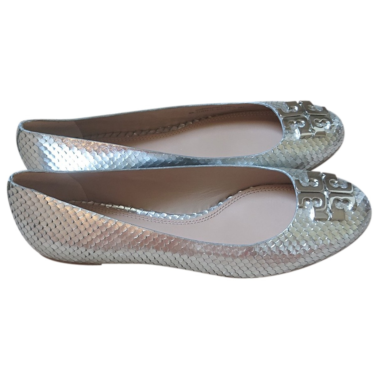 Tory Burch \N Silver Leather Ballet flats for Women 39 EU