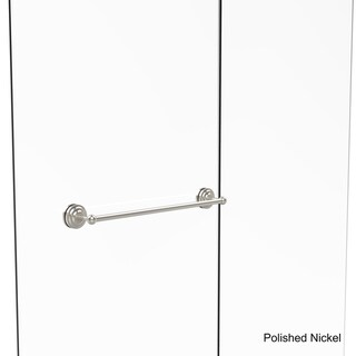 Allied Brass Que New Collection 24-inch Shower Door Towel Bar (Polished/Nickel Finish)
