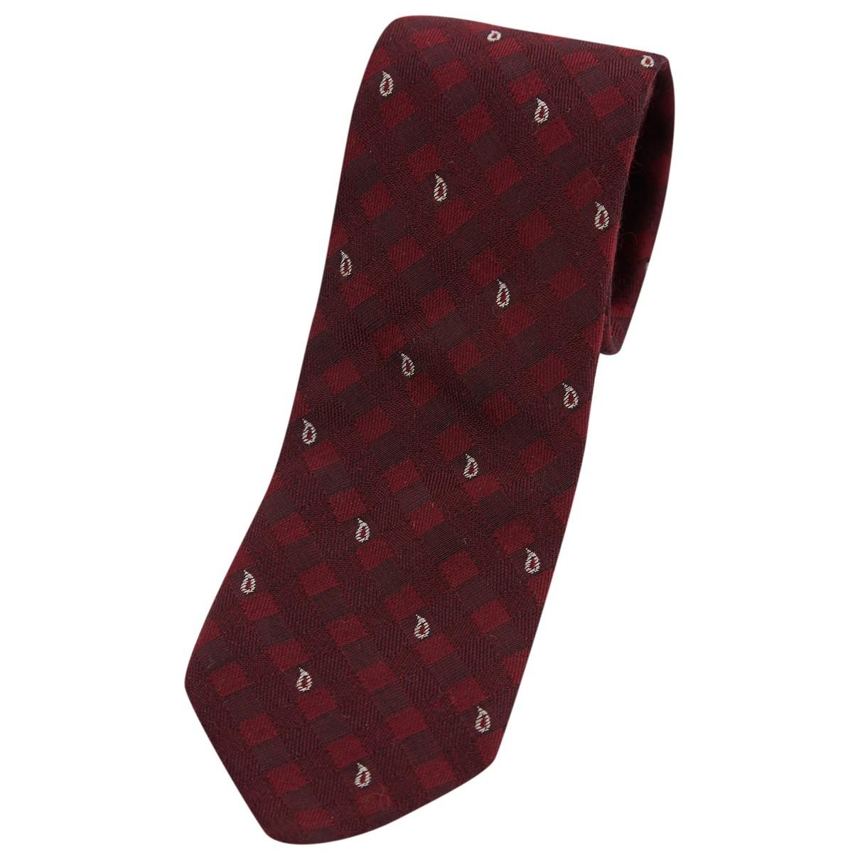 Borsalino - Cravates   pour homme en soie - rouge