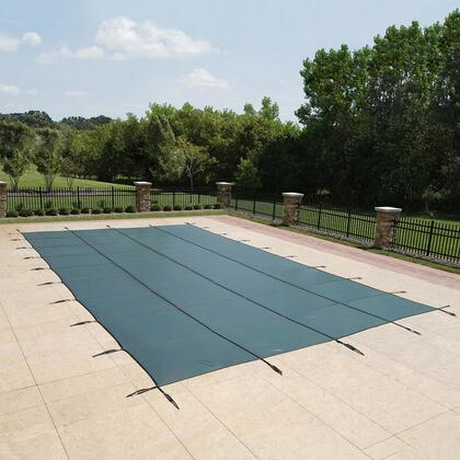 WS2090G Green 20-Year Ultra Light Solid Safety Cover For 16' x 34' Rectangular Pool in