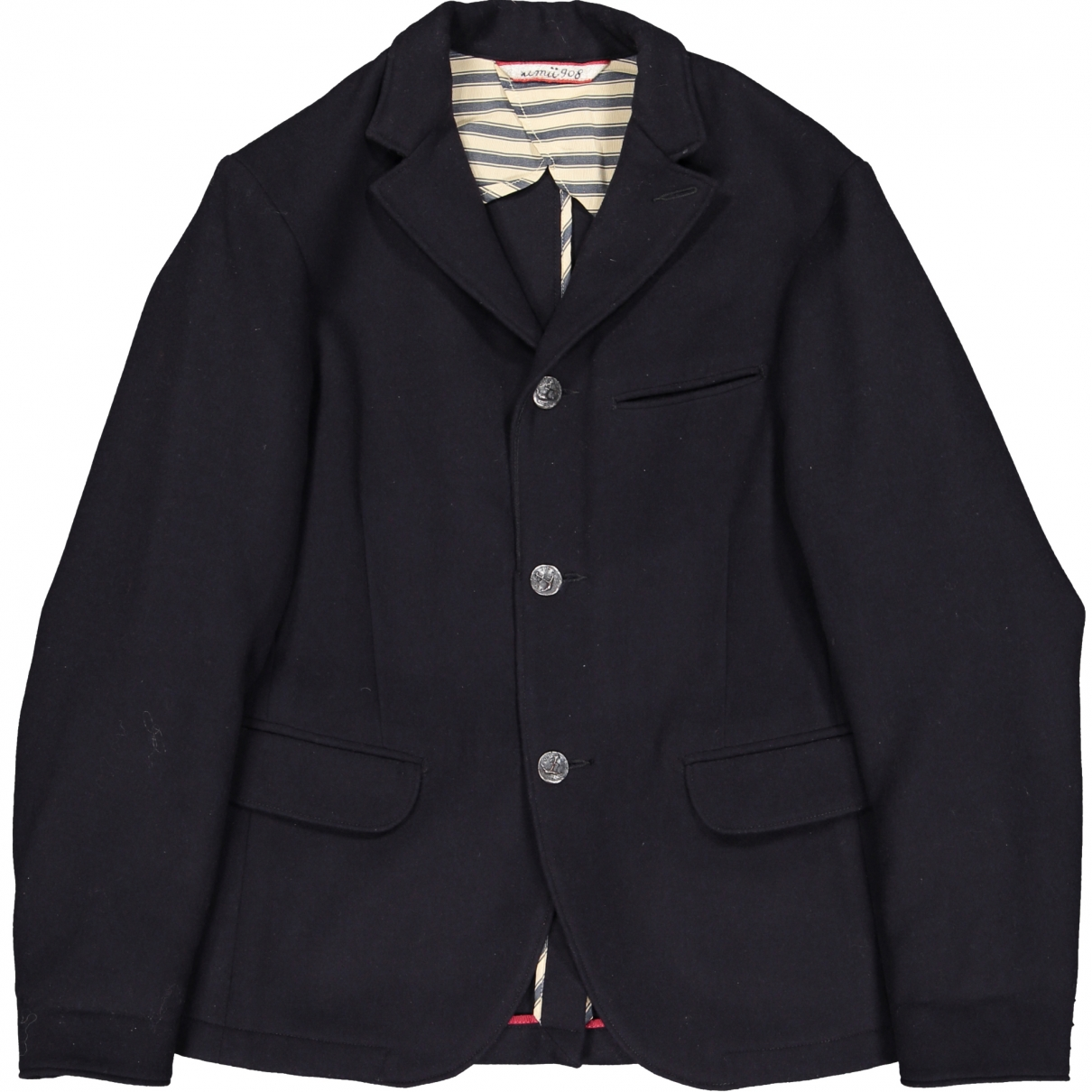 Non Signé / Unsigned \N Navy Wool jacket for Women 42 FR