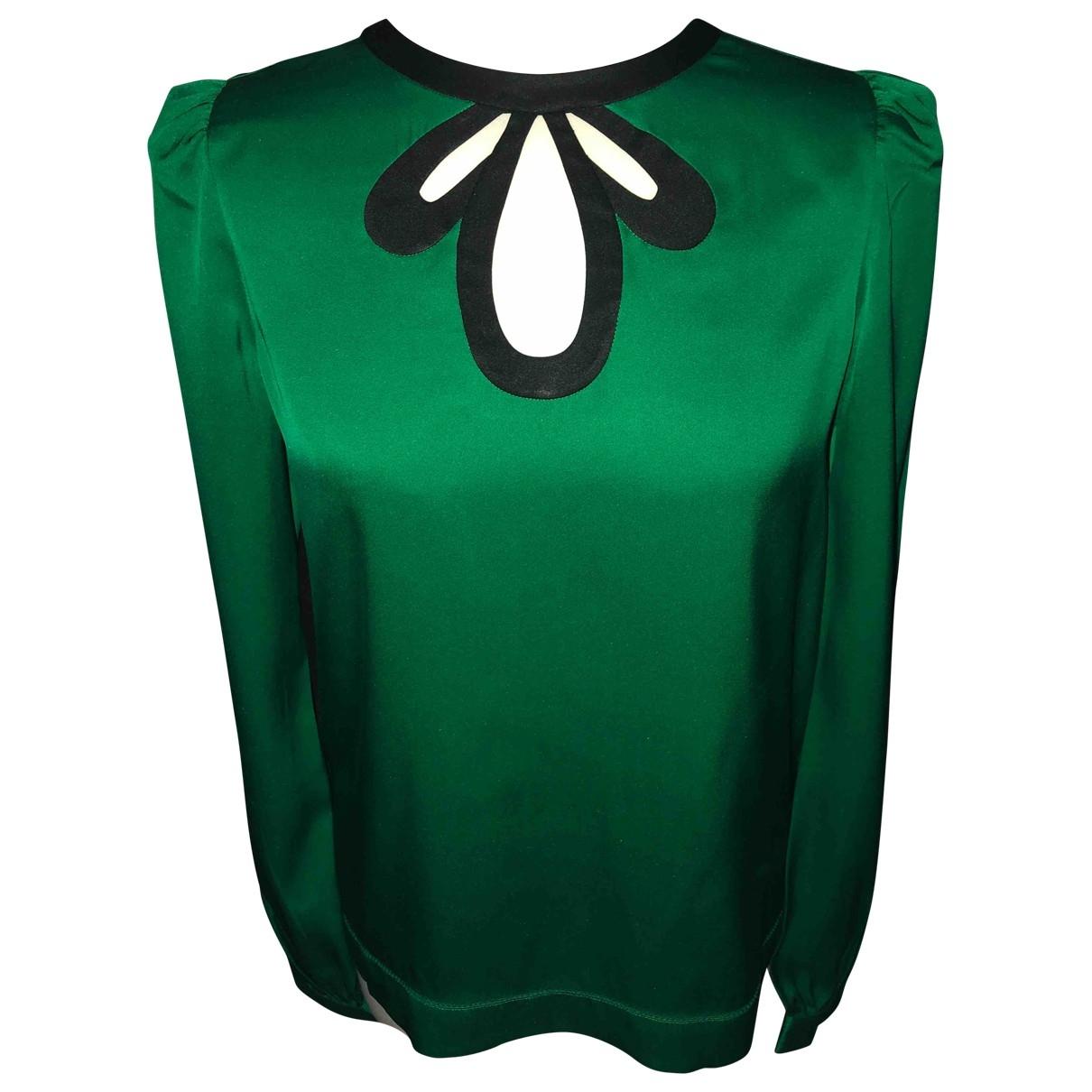 Hoss Intropia \N Green Silk  top for Women 38 FR