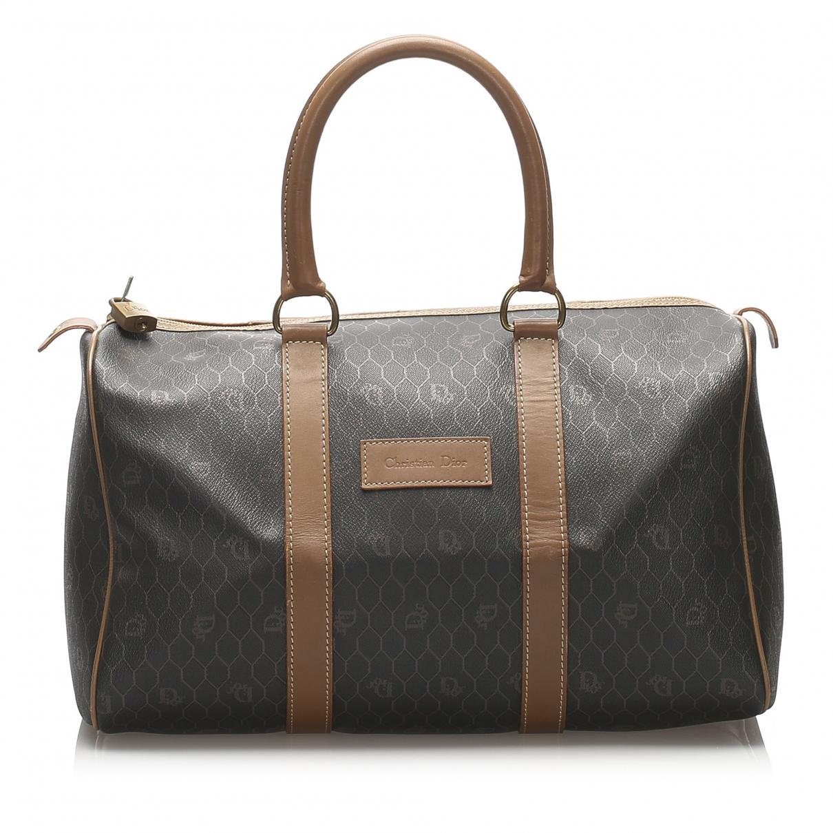 Dior - Sac de voyage   pour femme en toile - marron