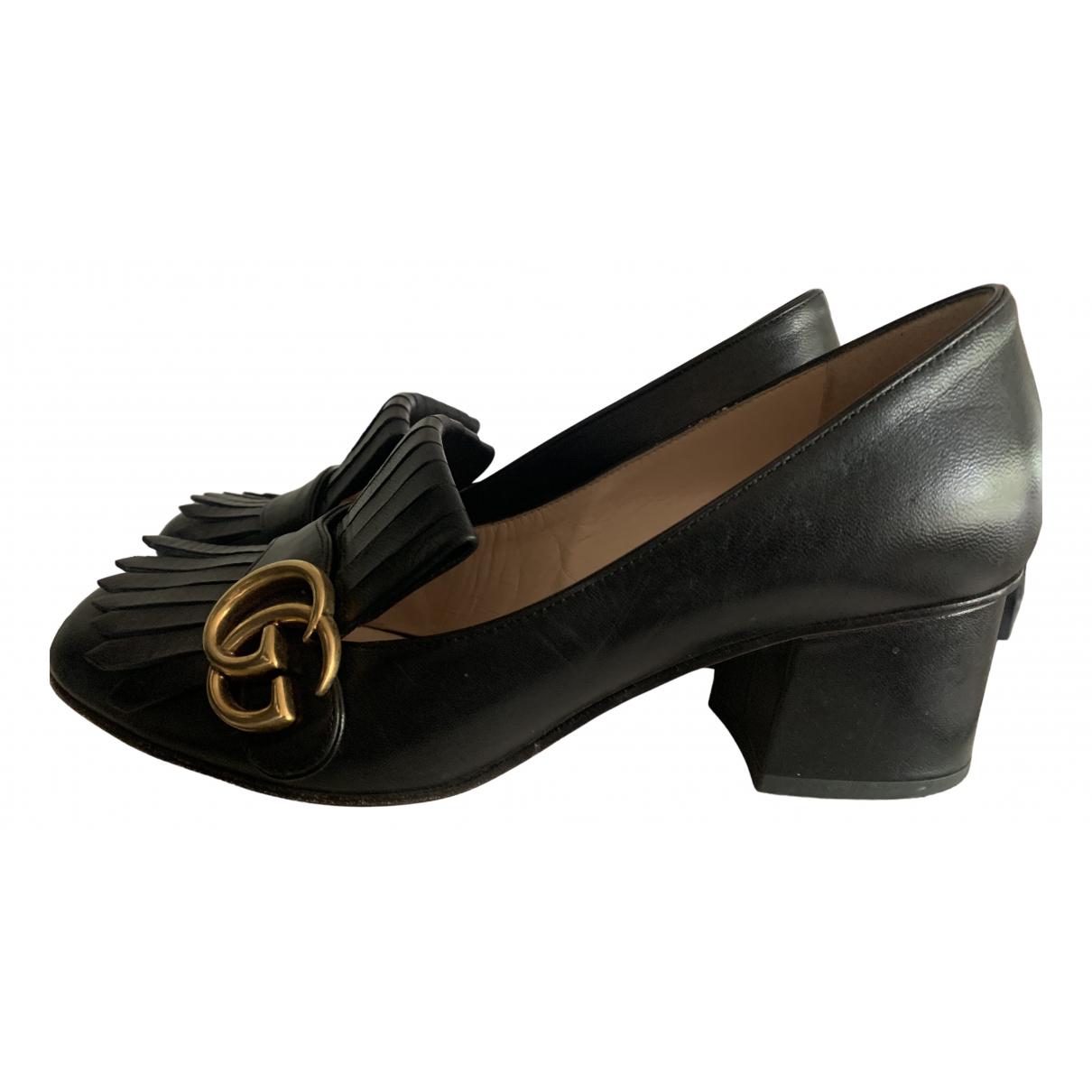 Gucci - Escarpins Marmont pour femme en cuir - noir