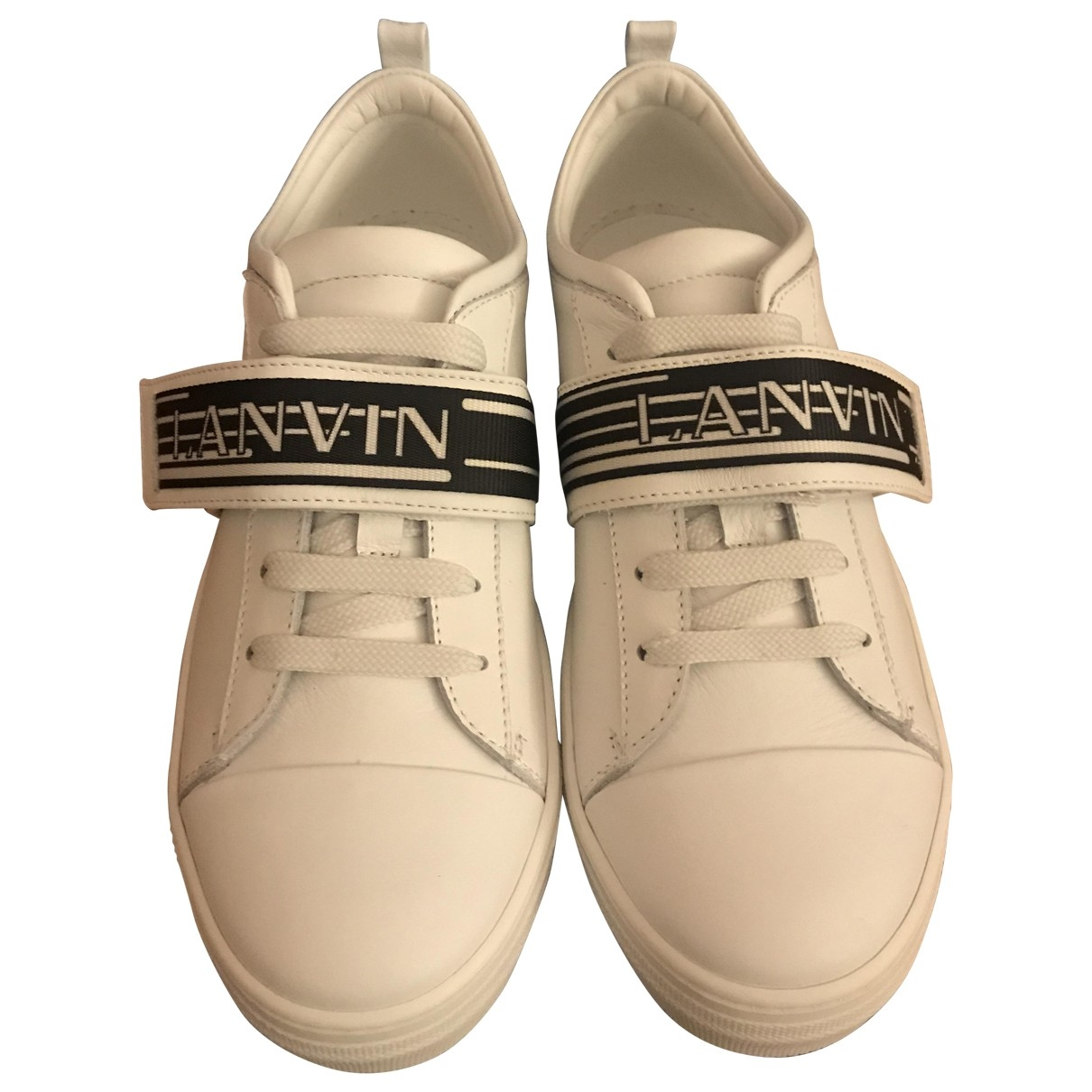 Lanvin \N White Leather Trainers for Women 38 EU