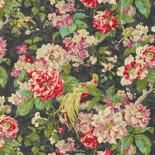 Waverly Floral Engagement Nightfall Home Décor Fabric | Michaels®