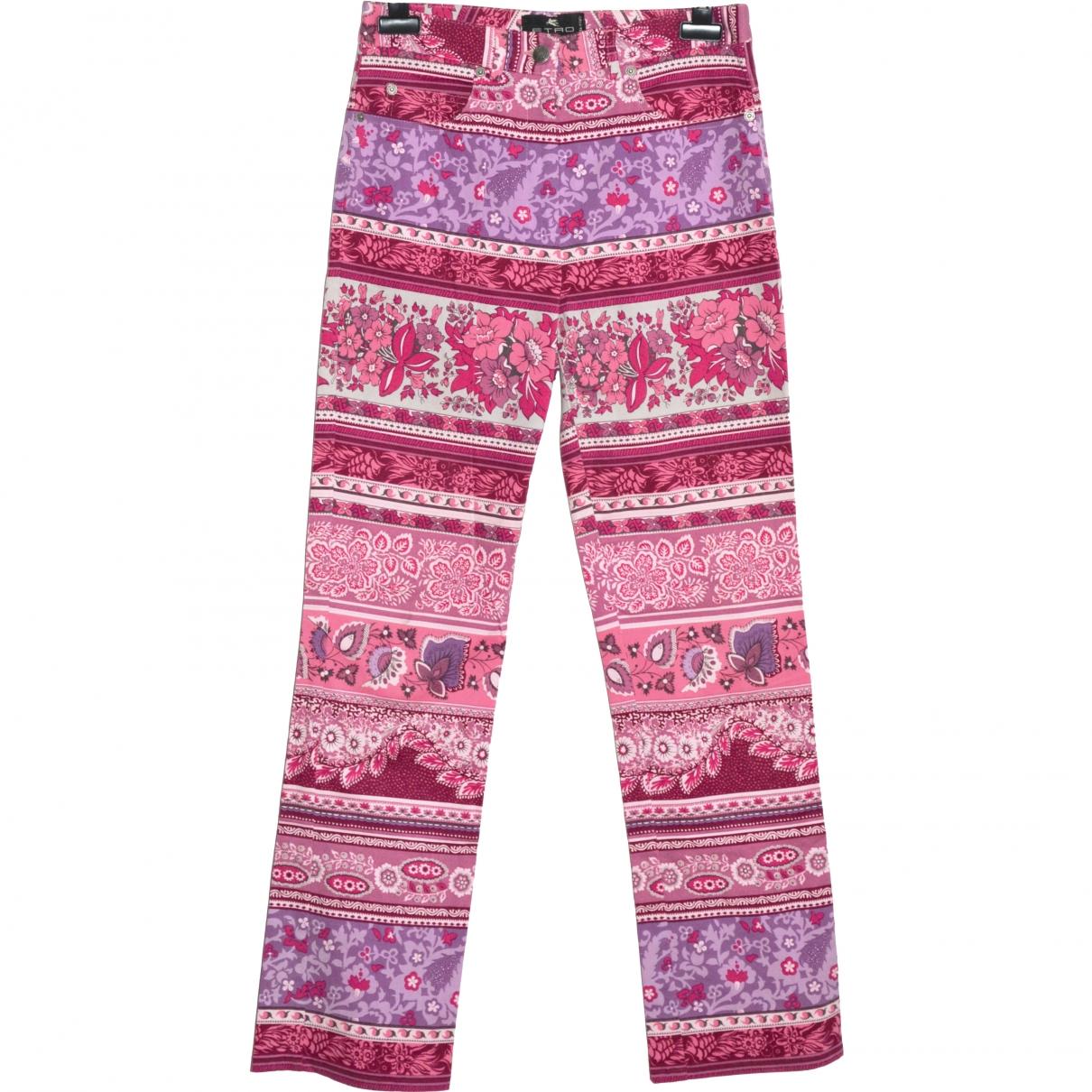 Etro \N Multicolour Cotton Trousers for Women 42 IT