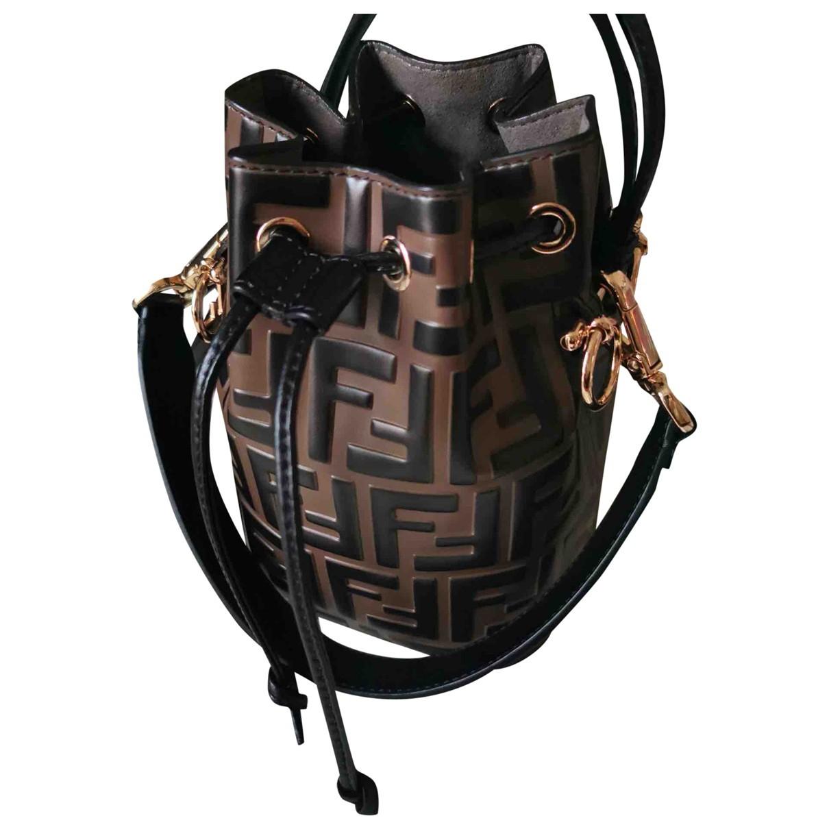 Fendi Mon Tresor Handtasche in  Braun Leder