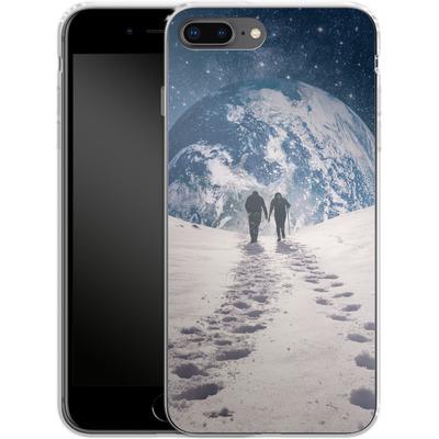 Apple iPhone 7 Plus Silikon Handyhuelle - Pale Blue Dot von Enkel Dika