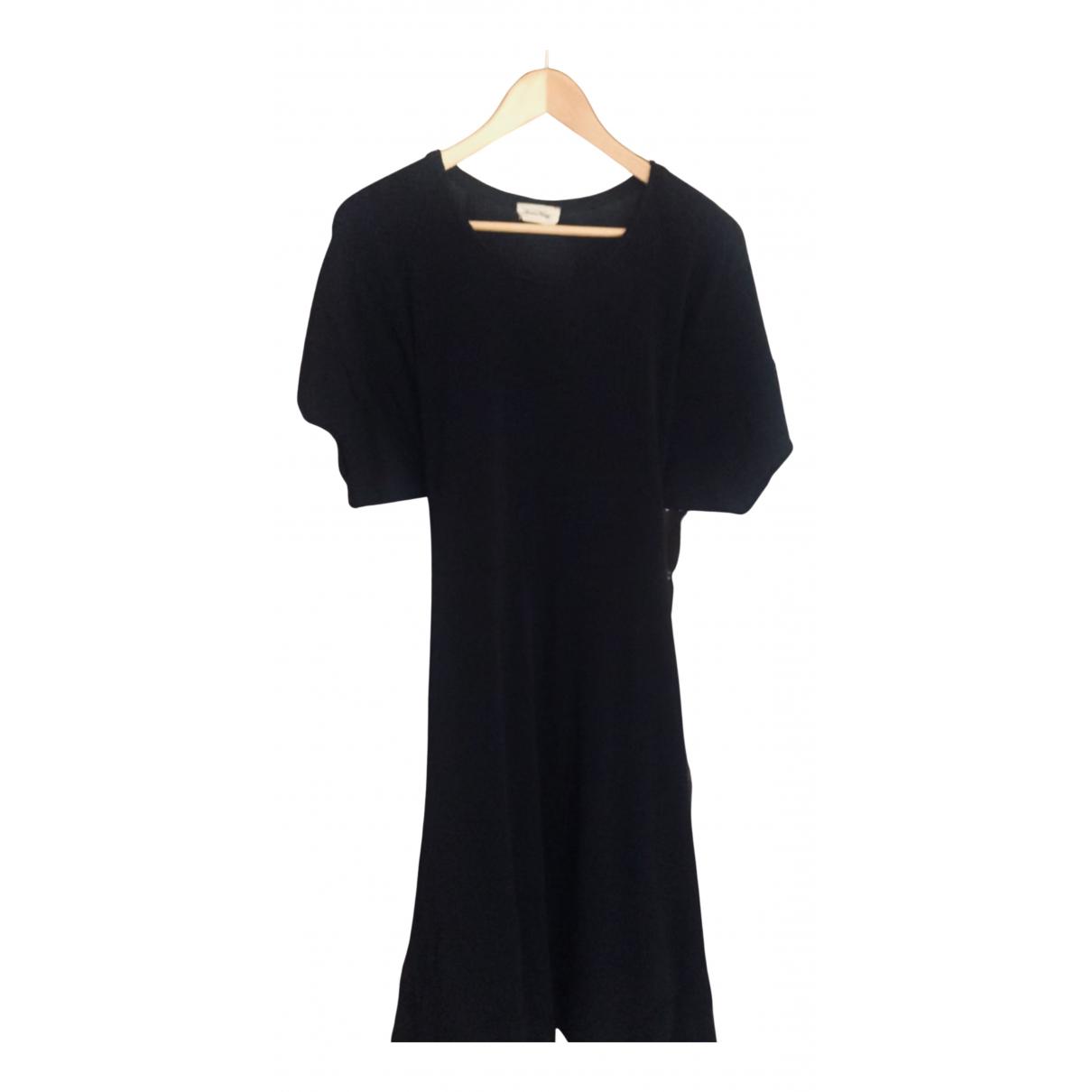 American Vintage - Robe   pour femme en coton - elasthane - noir