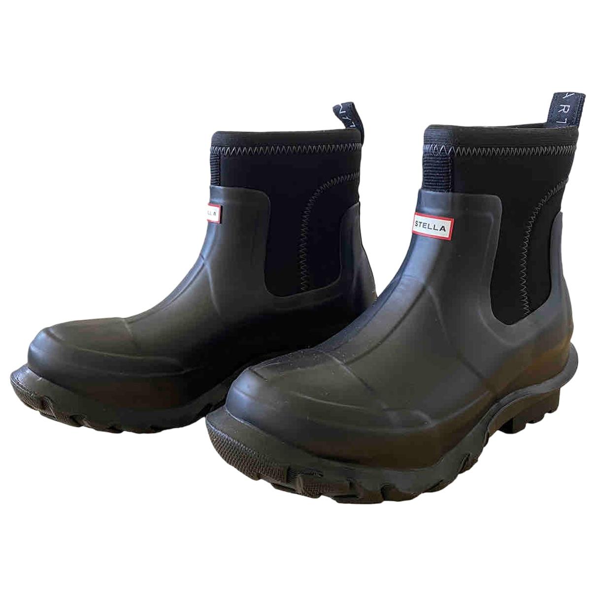 Stella Mccartney N Black Rubber Boots for Women 8 UK