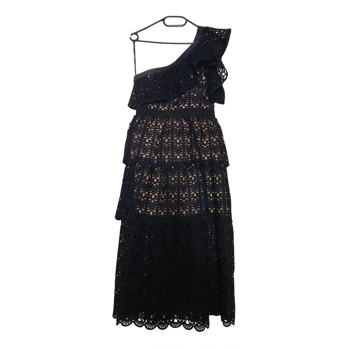 Self Portrait \N Navy Cotton dress for Women 12 UK