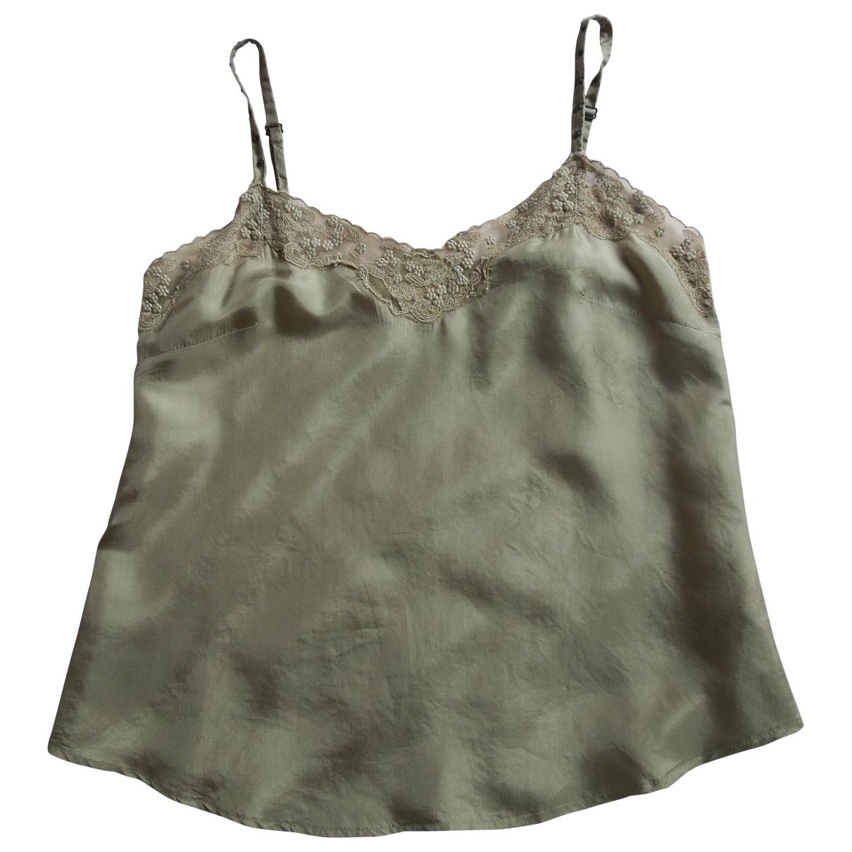 Ikks \N Khaki Silk  top for Women 38 FR