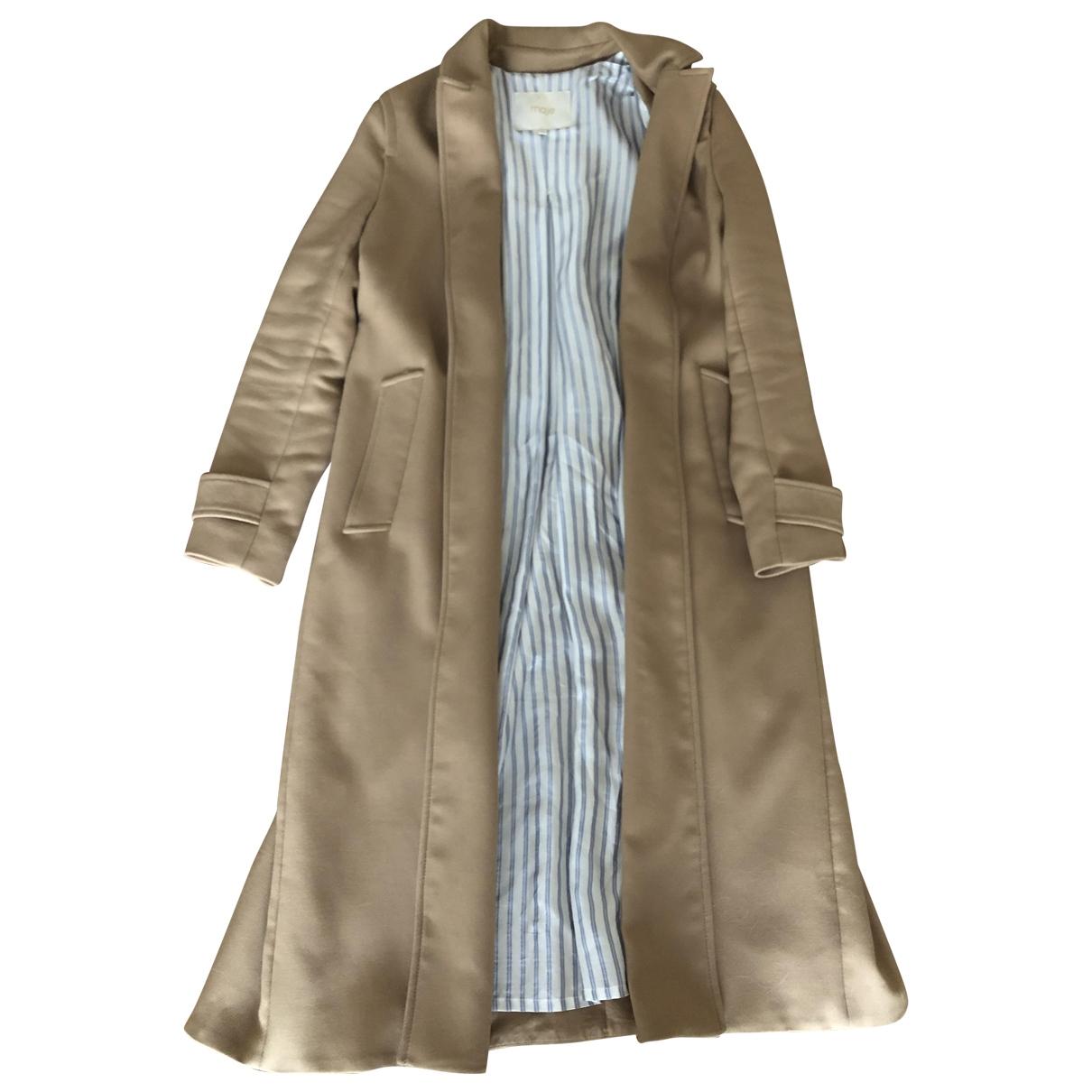 Maje \N Beige Wool coat for Women 38 FR
