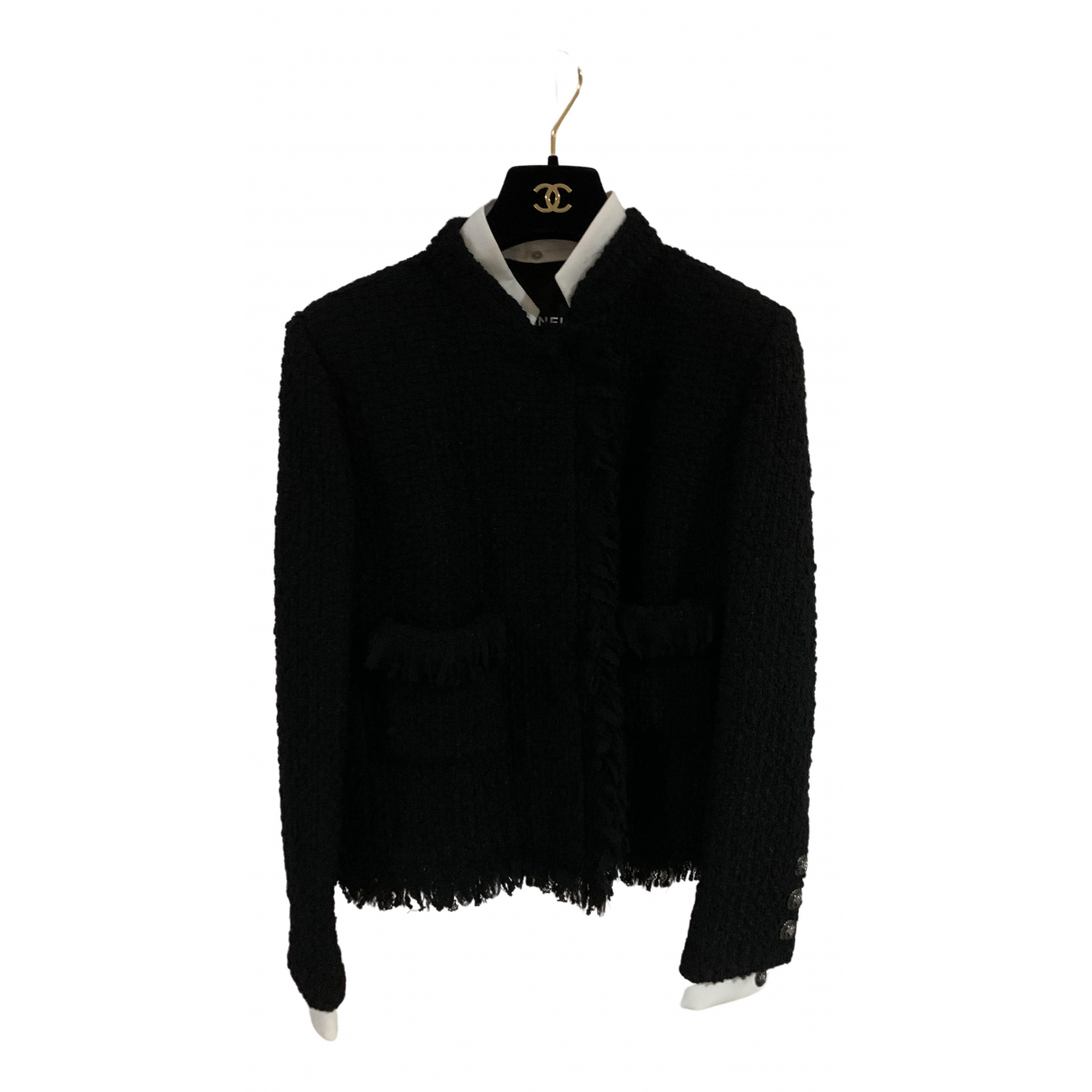 Chanel - Veste   pour femme en laine - noir